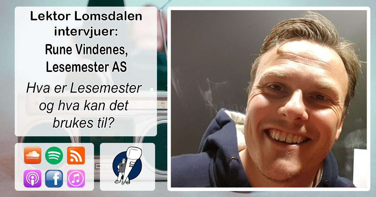 LL-166: Rune Vindenes om Lesemester